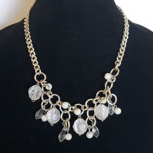 60's Acrylic Beads and Silver Tone Necklace